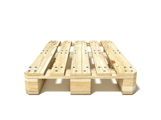Euro pallet. Front view