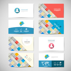 Vector Paper Business Card Template - Layout Set