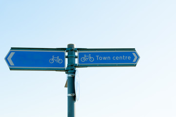 Direction for Town centre close up