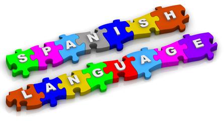 Spanish language. Word on puzzles