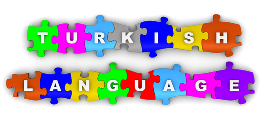 Turkish language. Word on puzzles