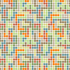 Vector seamless pattern of randomly connected squares
