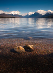 Wall Mural - Clear Water Polished Rocks Lake McDonald Glacier National Park