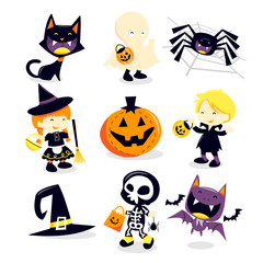 Halloween Trick Or Treat Icons