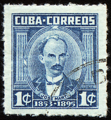 Jose Marti on post stamp