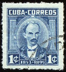 Jose Marti on post stamp