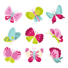 Happy Sweet Butterflies Icons