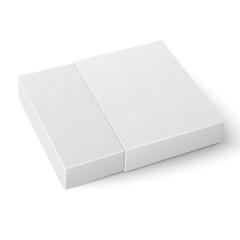 White sliding cardboard box template.