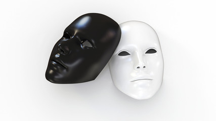 3d facemasks black and white