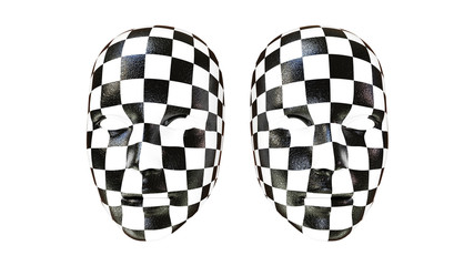 3d facemasks in checkers