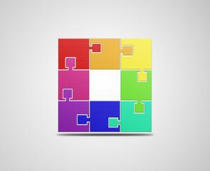 Colorful puzzle illustration