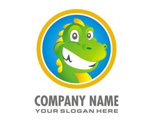dragon lizard logo image vector