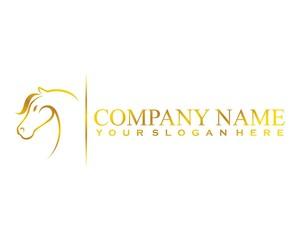 golden horse logo image vector