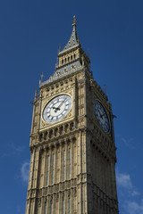 Big Ben Clock Tower London Blue Sky Vertical
