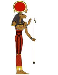 isolated figure of ancient egypt deities