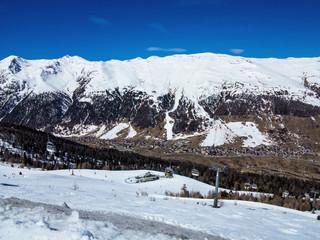 ski slope in the Italian Alps