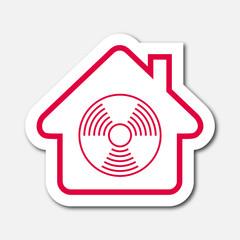 Logo maison et détecteur de fumée
