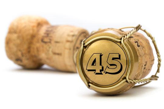 Champagnerkorken Jubiläum 45 Jahre