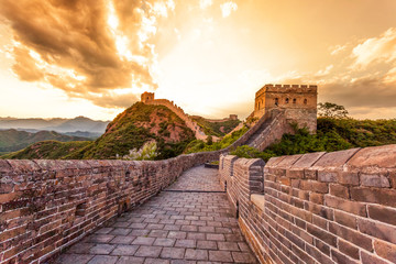 Fotobehang Chinese Muur great wall