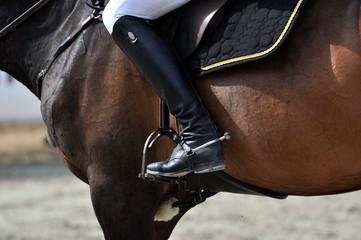 Das Reiten im Detail, Reitstiefel, Steigbügel und Sporn