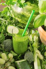 Grüner Smoothie Zutaten