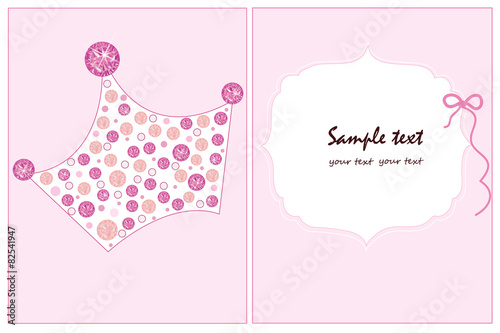 Baby girl crown baby shower greeting card vector stock image and baby girl crown baby shower greeting card vector m4hsunfo