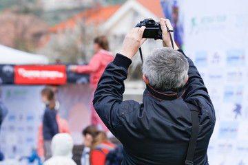 Man taking picture - illustrative