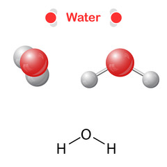 Water molecule - icon and chemical formula