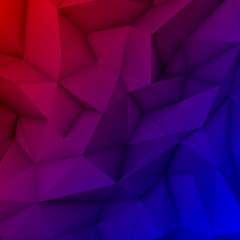 Red and Blue Magenta Abstract Polygonal Background