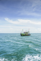 Fishing boat industry in Thailand Asia