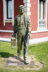 statue of Migrant in Cangas de Onis, Asturias