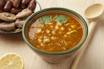 Bowl of Moroccan harira soup