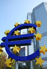 Frankfurt am Main, Euro, sign, symbol, money, finance