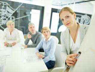Frau von Consulting Firma gibt Beratung