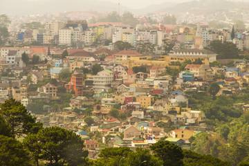 View of Dalat city, Vietnam