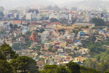 View of Dalat city, Vietnam
