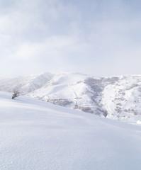 snowy mountains in Kazakhstan