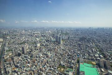 東京スカイツリーからの眺め(南側・東京湾方面)
