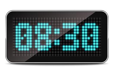 LED Clock, Vector Illustration