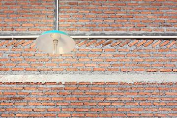 Brick wall and lighting decor
