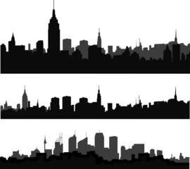 silhouette of city in black interpretation part 10