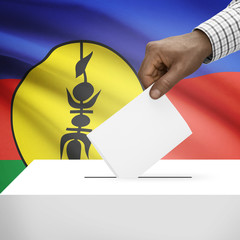Ballot box with national flag - New Caledonia