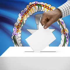 Ballot box with national flag - Northern Mariana Islands