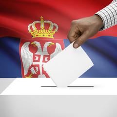 Ballot box with national flag series - Serbia