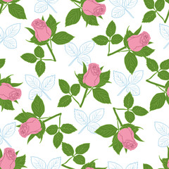 Seamless pattern with floral design.