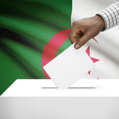 Ballot box with national flag on background series - Algeria