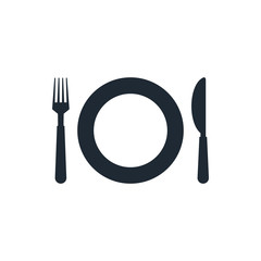 icon fork and knife dish