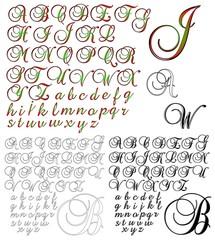 ABC Alphabet lettering design Brock