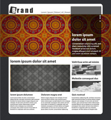Template Vector Design / Layout Design / Background