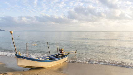 Fishing boat at Thong Ching beach, Khanom, Nakornsrithammarat, T